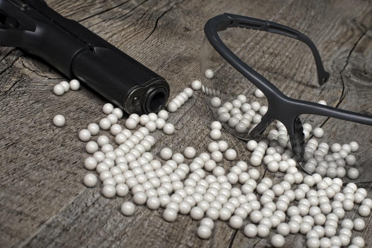 what do airsoft guns shoot?